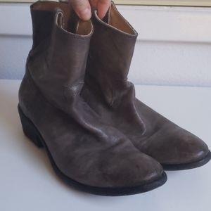 Frye Carson Tab Short Boot in Slate/Gray
